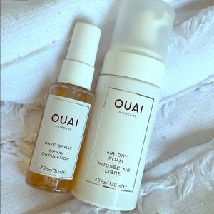 Ouai Air Dry Foam and Wave Spray
